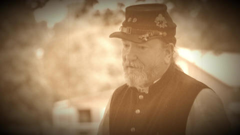 Bearded Civil War soldier (Archive Footage Version) Live Action