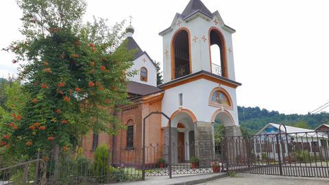 Lesnoe. Church of St. George. St. George Temple. Sochi, Russia Footage