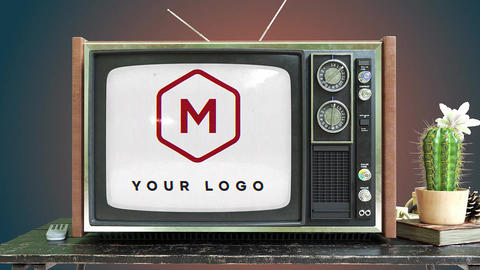 Vintage TV Logo After Effects Template