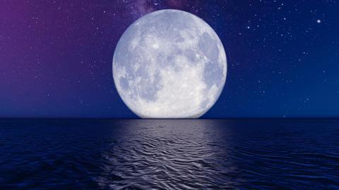 Big Moon on Horizon Animation