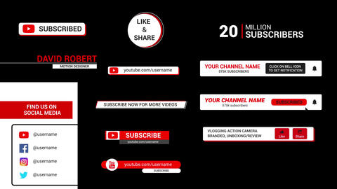 Youtube Promotion Titles Motion Graphics Template