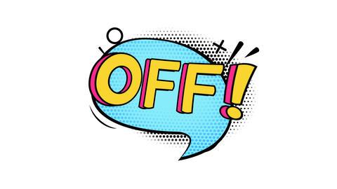 Cartoon sale sticker on alpha channel GIF