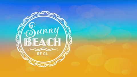 surfing school imprint design set up with a rounded drawing with tropical typography over a luminous Animation