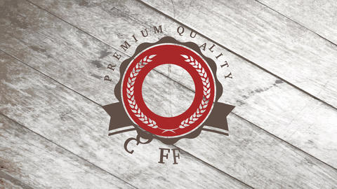 design for a coffee brand identity made with heated beans in the center of wavy circle with wheat Animation