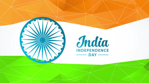 india national freedom day vacation ceremony concept art designed with the colors of the flag built Animation