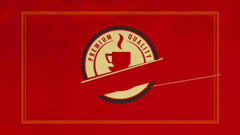 stylish red design of caffeine product made with round sketch and a hot teacup indoor suggesting Animation