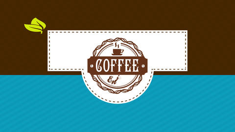 coffee boxing design with western offset and folding components with speckled lines as guides and a Animation