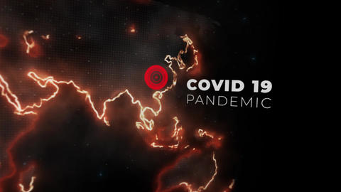 Coronavirus Pandemic Map Titles After Effects Template