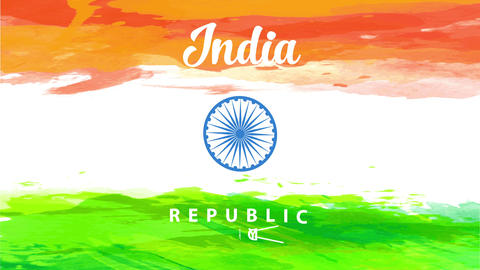 conceptual art design for india independence day vacation announcement with the national banner Animation