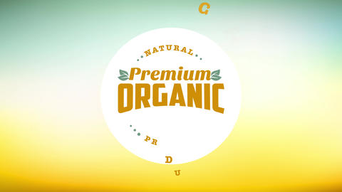 healthy eco friendly product concept design crafted with a curve with classical text on it over a Animation