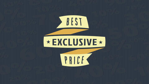 product sale design with a medal of weave material with script written over a space with huge Animation