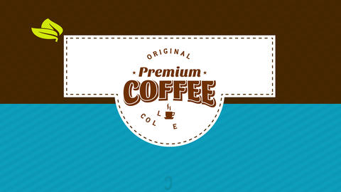 coffee packing design separated in 3 part with stripes details and spotted lines in the center Animation