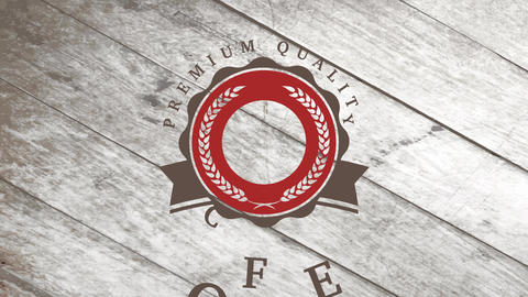 design for a coffee mark individuality crafted with heated pea in the center of rippled curve with Animation