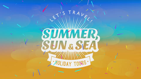 holiday holiday announcement design with sunshine approaching out of summer typography over a with a Animation