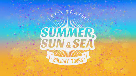 vacation holiday announcement design with sunlight approaching out of summertime offset over a with Animation