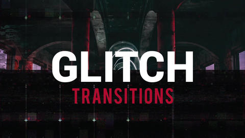 Glitch Transitions After Effects Template