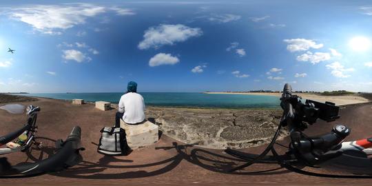 Okinawa blue sky and blue ocean VR 360° 動画