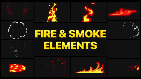 Fire And Smoke Elements Motion Graphics Template