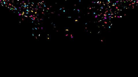 Celebration 4K Confetti with Alpha Matte Channel Animation
