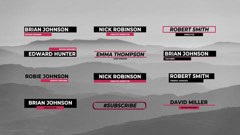 Modern Lower Thirds Motion Graphics Template