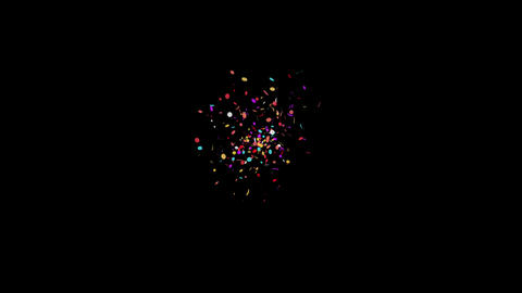 Confetti / Alpha Matte Channel Animation
