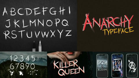 Anarchy Animated Typeface After Effects Template
