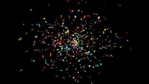Colorful Confetti 4K with Alpha Matte Channel Animation