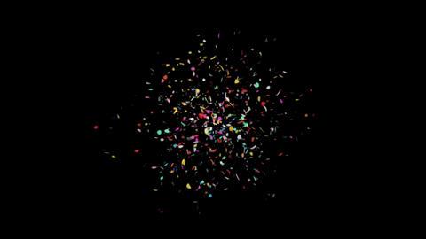 4K Celebration Confetti with Alpha Matte Channel Animation