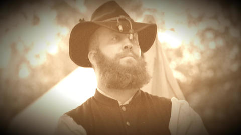 Civil War soldier with a great beard (Archive Footage Version) Live Action