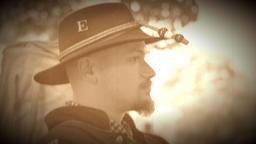 Civil War soldier wearing regimental hat (Archive Footage Version) Live Action