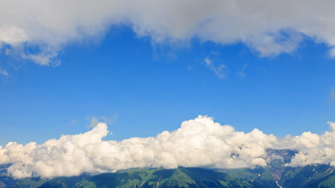 Clouds over the ridge. TimeLapse. Krasnaya Polyana, Sochi, Russia Footage