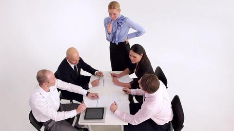 Funny Break in the Meeting Footage