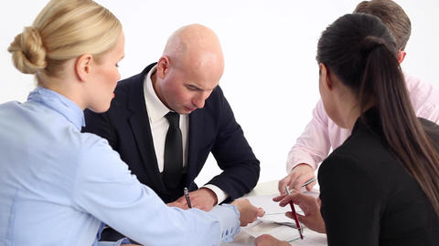 Work together on the business project Live Action