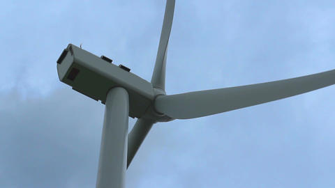 Strong wind rotating turbine propeller, stormy weather, cloudy sky, hurricane Footage