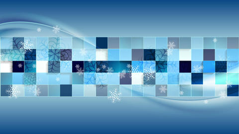 Bright blue geometric wavy Christmas video clip Animation