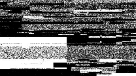 Grey Dirty Noise On Black Glitch Video Damage Background Animation