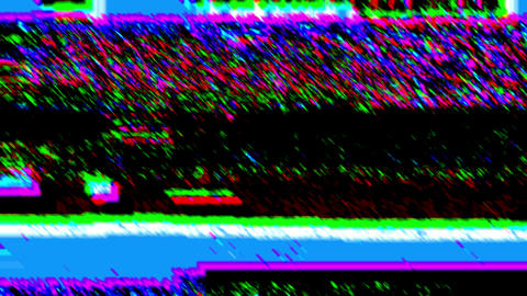 Glitch Psydelic Noise Video Damage Background Animation