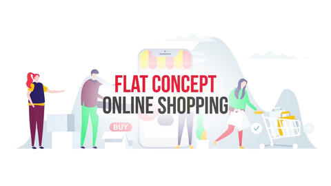 Online shopping flat concept After Effects Template