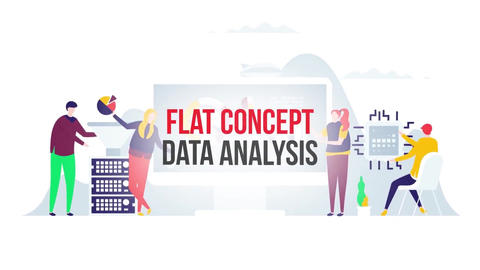 Data analysis flat concept After Effects Template