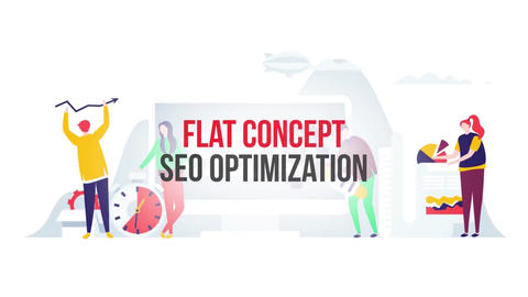 Seo optimization flat concept After Effects Template