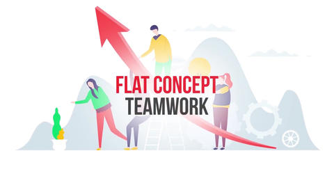 Teamwork flat concept After Effects Template