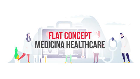 Medicine healthcare flat concept After Effects Template