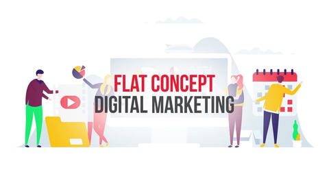 Digital marketing flat concept After Effects Template