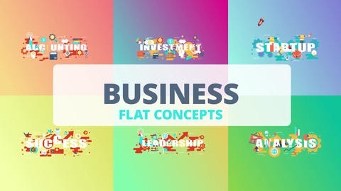 Business word flat concept After Effects Template