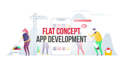 App development flat concept After Effects Template