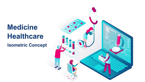Medicine healthcare isometric concept After Effects Template