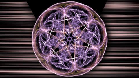 Purple magic antistress patterns, circle fractal live ornament rotating, violet Animation