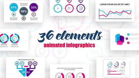 36 infographics elements After Effects Template