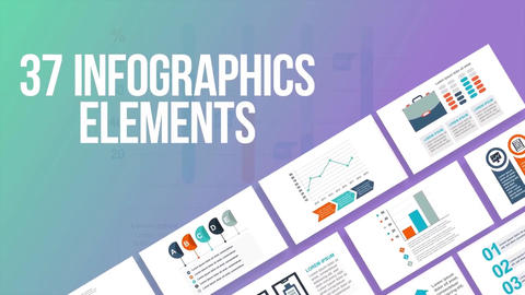 37 infographics elements After Effects Template