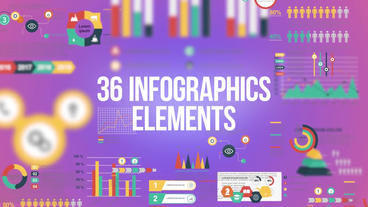 36 infographics elements pack After Effects Template